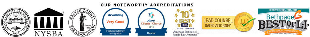 Divorce Attorney Long Island Accreditations
