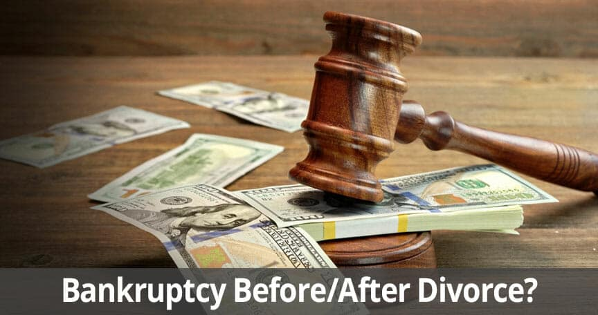 Filing Bankruptcy Before or After Getting a Long Island Divorce